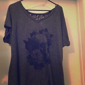 Torrid lace back blouse